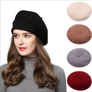 Accessories - (3Pack)Fall is here Vintage Berets cap solid color